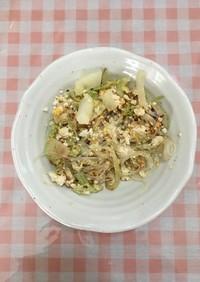 豆腐卵と温野菜炒め