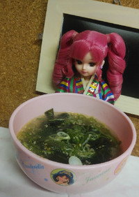 リカちゃん♡生ワカメスープ(ダシダ 蜆)