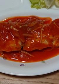 白身魚のソテー☆野菜ジュースソース☆