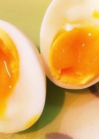 【簡単】基本の半熟茹で卵(半熟度 5割)