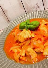 ささっと簡単!柔らか鶏胸肉のトマト煮込み