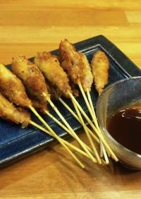 豚こま肉で簡単!大阪名物串カツ