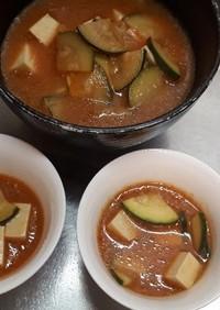 野菜ジュースの味噌スープ