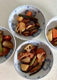 冷凍和風野菜と仙台麩の煮物