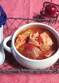鶏胸肉キャベツ舞茸スープ(ダイエット)