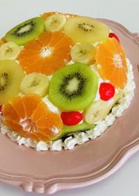 フルーツドームケーキ