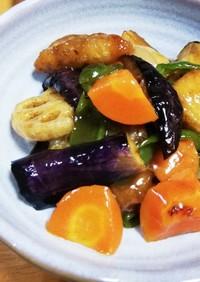 鱈と野菜の黒酢あん