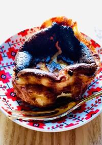 糖質オフ☆ミニ•バスク風チーズケーキ♪