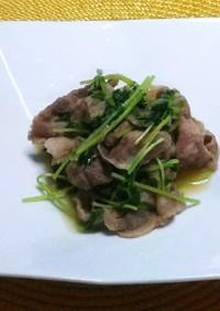 豚肉と豆苗のおろし煮
