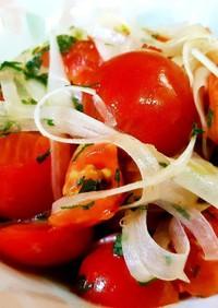 超簡単副菜♪ミニトマトと玉ねぎのマリネ♡