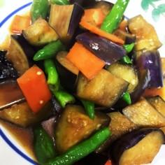 茄子と獅子唐の醤油炒め煮
