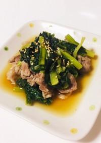 レンジで簡単小松菜と豚肉の鶏ガラしょうゆ