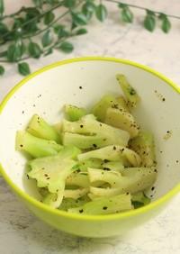 簡単!ブロッコリーの茎のペッパーソテー