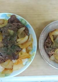 牛肉と玉ねぎのケイジャンソース炒め