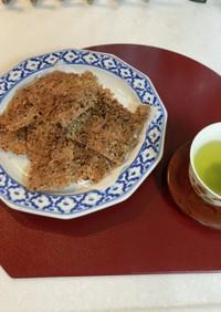 簡単カルシュウムいっぱい玄米手作り煎餅