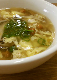 きのこのかきたまスープ