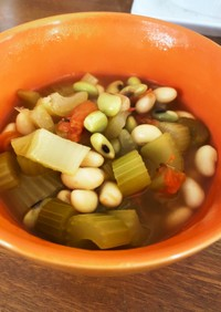 セロリとトマトと豆のダイエットスープ