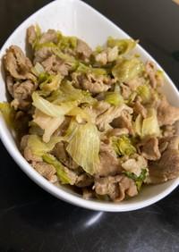 豚肉とレタスのポン酢炒め