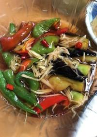 新生姜と夏野菜の和風マリネ