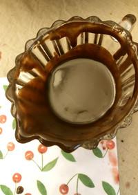 クレープのチョコレートソース