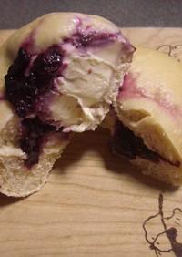 自家製酵母平焼き&ブルーベリーチーズパン