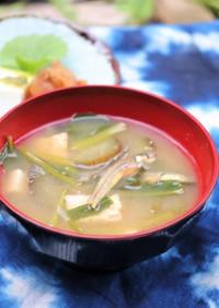 初秋野菜のお味噌汁