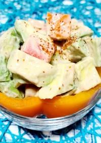 ★簡単★パプリカと江戸菜のコブサラダ