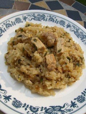 炊飯器deお肉やわらか中華風ピラフ♪