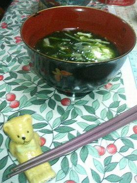 早い 簡単 海苔のスープ