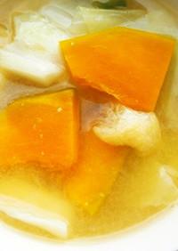 キャベツ・南瓜の味噌汁♪