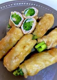 小松菜の豚肉巻き!味噌照り焼きダレ!