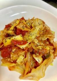 豚肉とキャベツのトマトハーブ煮込み