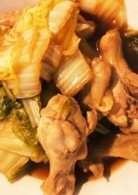 圧力鍋でつくる鶏肉と白菜の簡単醤油煮