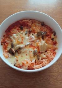 野菜ジュースで簡単旨旨チーズリゾット