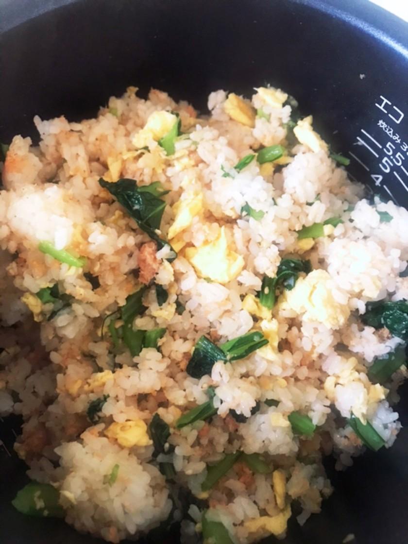 栄養満点小松菜ご飯 混ぜ込み、おにぎり