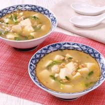 ヘルシー食材で代謝アップ!納豆麻婆スープ
