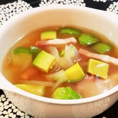 簡単!アボカドとベーコンの食べるスープ