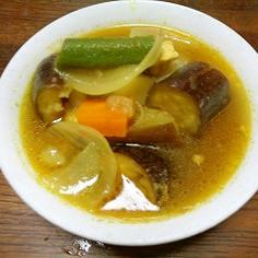 野菜たっぷりのカレースープ