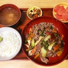 青椒肉絲風定食