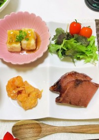 エビマヨ・揚げ出し豆腐で夕飯の献立