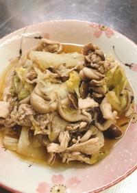 豚肉と白菜としめじの煮物