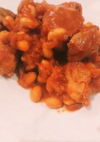 鶏肉と大豆のケチャップ煮込み(覚え書き)