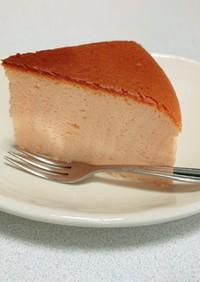 しっとりフワフワいちごスフレチーズケーキ