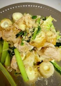 小松菜とちくわチーズの生姜焼き風