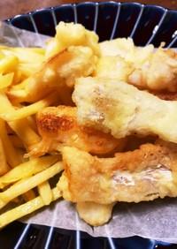 天ぷら粉で簡単♪鱈のフリッター