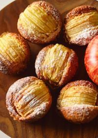 ポリ袋で簡単!りんごマフィンケーキ