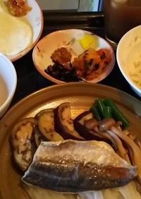 鯵の塩焼き 蒸し( 朝食☀️)