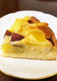 簡単♡さつま芋とりんごのケーキ