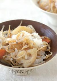 白魚とれんこんの混ぜご飯の素