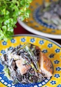 簡単!ごまポン♪ひじきと小松菜のサラダ